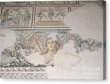 Dionysus Mosaic Mona Lisa Of The Galilee Canvas Print