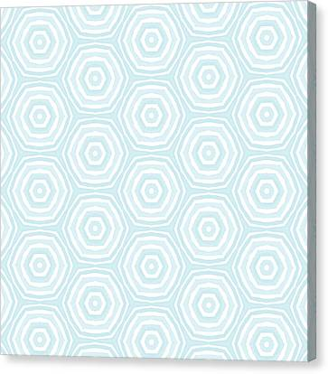 Repeat Canvas Print - Dip In The Pool -  Pattern Art By Linda Woods by Linda Woods
