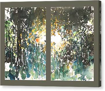 Diptych No.11 Canvas Print