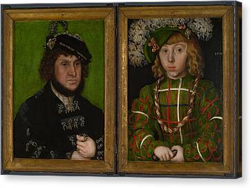 Diptych   Two Electors Of Saxony Canvas Print