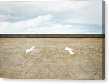 Parking Canvas Print - Direction by Scott Norris