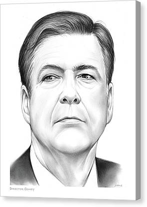 Director Comey Canvas Print by Greg Joens