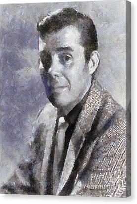 Dirk Bogarde By Sarah Kirk Canvas Print