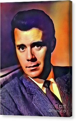 Dirk Bogarde, Vintage Actor. Digital Art By Mb Canvas Print
