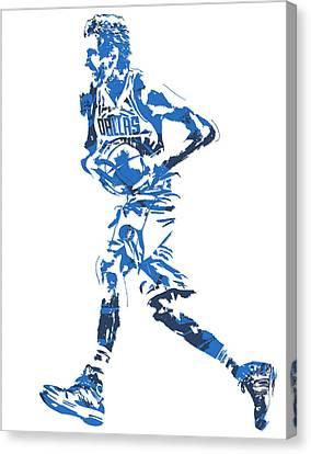Maverick Canvas Print - Dirk Nowitzki Dallas Mavericks  Pixel Art 6 by Joe Hamilton