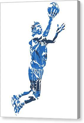 Maverick Canvas Print - Dirk Nowitzki Dallas Mavericks  Pixel Art 7 by Joe Hamilton