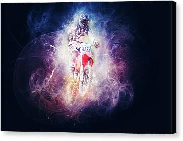 Dirt Biker Canvas Print