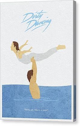 Canvas Print featuring the painting Dirty Dancing by Inspirowl