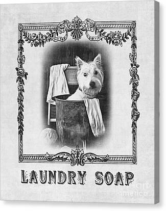 Wash Tubs Canvas Print - Dirty Dog Laundry Soap by Edward Fielding
