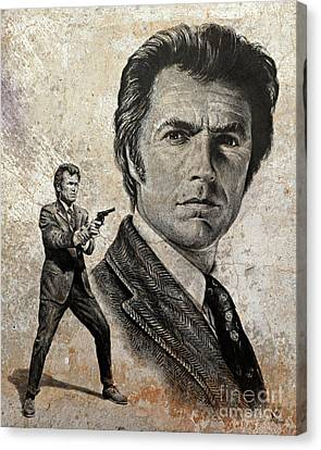 Harry Callahan Canvas Print - Dirty Harry  Make My Day Version by Andrew Read
