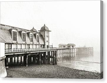 Disa Pier Ing Mono Canvas Print by Steve Purnell