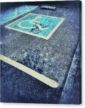 Disabled Parking Space Canvas Print
