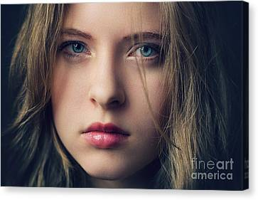 Disappointed Girl Canvas Print by Gelner Tivadar