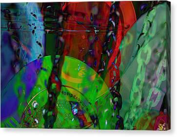 Disc Golf Neon Canvas Print