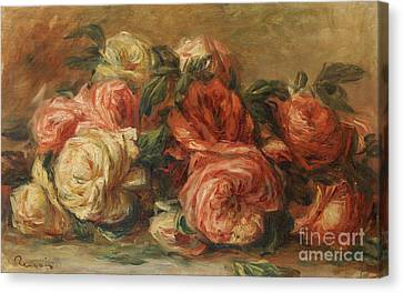 Discarded Roses  Canvas Print
