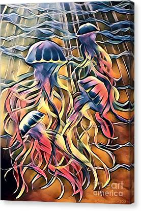 Disco Jellies  Canvas Print