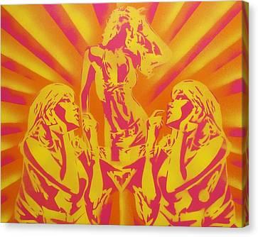 Disco Canvas Print by Leon Keay