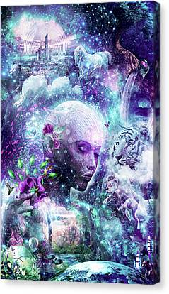 Spiritual Art Canvas Print - Discovering The Cosmic Consciousness by Cameron Gray