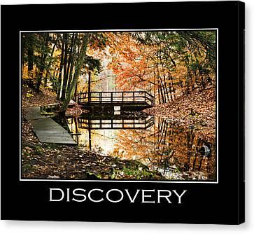 Discovery Inspirational Motivational Poster Art Canvas Print