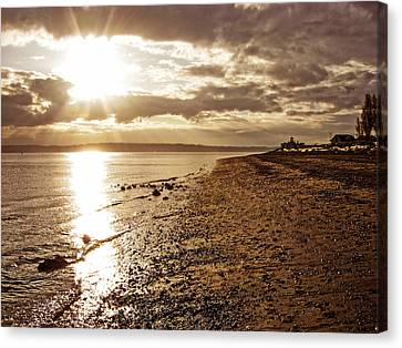 Discovery Park Sunset 4 Canvas Print
