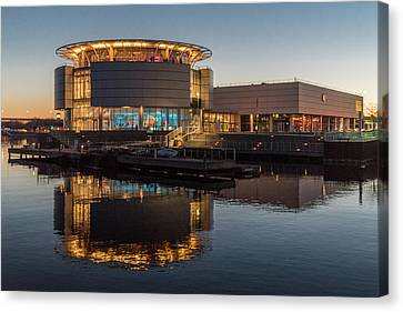 Canvas Print featuring the photograph Discovery World by Randy Scherkenbach