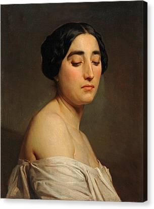 Disdain Canvas Print by William-Adolphe Bouguereau