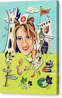 Disegni E Caricature Papiri Di Laurea - Stampa Colore Canvas Print