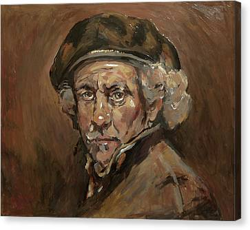 Disguised As Rembrandt Van Rijn Canvas Print by Nop Briex