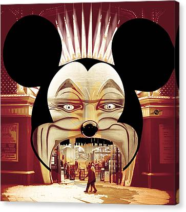 Dismal World Alternate Disney Universe 1 Canvas Print by Tony Rubino