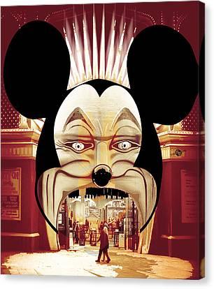 Dismal World Alternate Disney Universe 2 Canvas Print by Tony Rubino