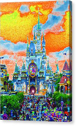 Disney At Fifty Canvas Print by David Lee Thompson