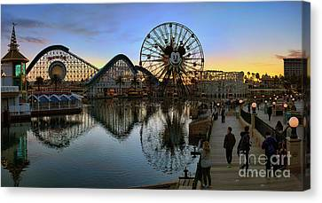 Disney California Adventure Panorama Canvas Print