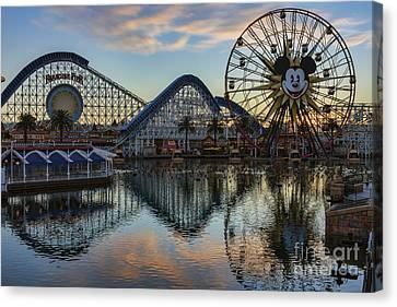 Disney California Adventure Reflections Canvas Print by Eddie Yerkish
