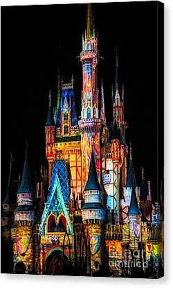 Canvas Print - Disney Castle by Paulette Thomas