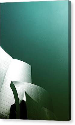 Disney Concert Hall 3- Photograph By Linda Woods Canvas Print by Linda Woods