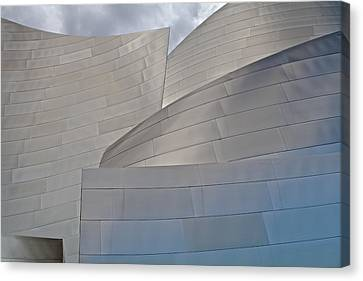 Canvas Print featuring the photograph Disney Concert Hall by Kim Wilson