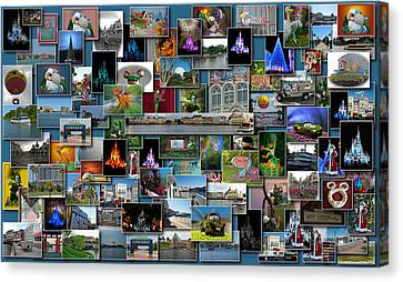 Coller Canvas Print - Disney World Collage Rectangle by Thomas Woolworth