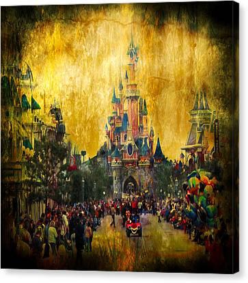Cracked Canvas Print - Disney World by Svetlana Sewell