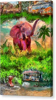 Disney's Jungle Cruise Canvas Print by Caito Junqueira
