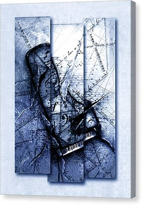 Dissonance In Blue Canvas Print by Gary Bodnar