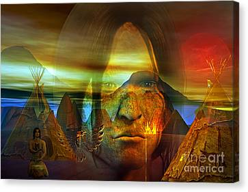 Distant Drum Canvas Print by Shadowlea Is