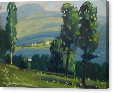 Distant Farm Canvas Print by Len Stomski