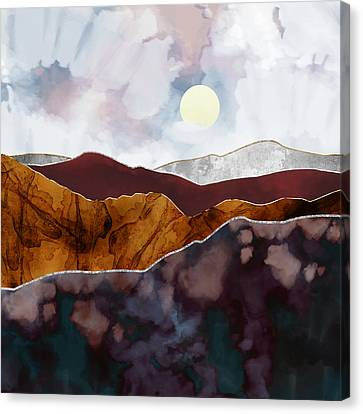 Textured Landscape Canvas Print - Distant Light by Katherine Smit