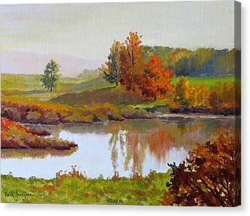Distant Maples Canvas Print by Keith Burgess