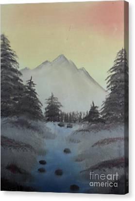 Distant Mountain Canvas Print