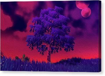Distant Nebula Canvas Print by Andrea Mazzocchetti