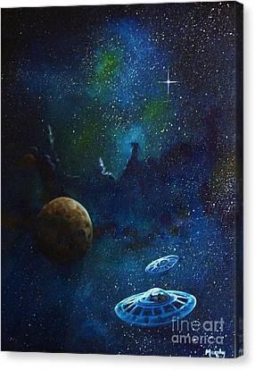 Distant Nebula Canvas Print by Murphy Elliott