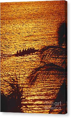 Distant View Of Outrigger Canvas Print by Ron Dahlquist - Printscapes