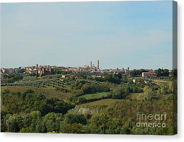 Distant Views Of Siena In Italy Canvas Print