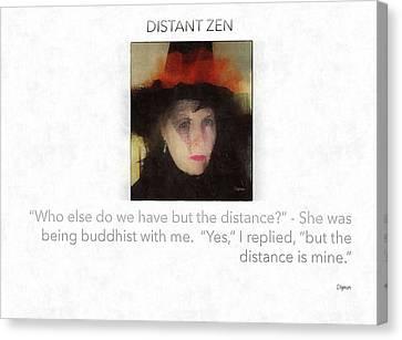 Distant Zen  Canvas Print by Steven Digman